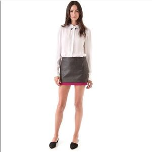 NEW Diane Von Furstenberg Elley Mini Coated Skirt